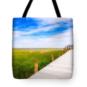 Lonely Pier II Tote Bag