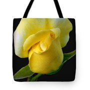Lonely Teardrop Yellow Rose Bud Tote Bag