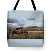 Lonely Tractor Panorama Tote Bag