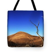 Lonely Bare Tree And Sanddunes Tote Bag