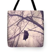 Lonely Winter Leaf Tote Bag
