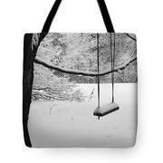 Lonely Winter Swing Ipswich Ma Tote Bag