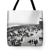 Long Beach California And Bath House C. 1902 Tote Bag