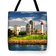 Long Beach Coast Line Tote Bag