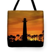 Long Beach Lighthouse Tote Bag by T A Davies