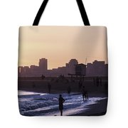 Long Beach Sunset Tote Bag