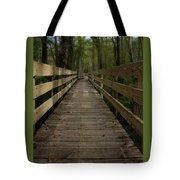 Long Boardwalk Through The Wetlands Tote Bag
