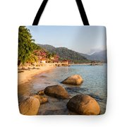 Long Chairs On A Beach In Pulau Tioman, Malaysia Tote Bag