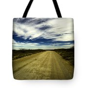 Long Dusty Road In Jal New Mexico  Tote Bag