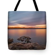 Long Expo Over Connecticut Lake Tote Bag