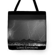 Long Exposure - Bw Poster Tote Bag