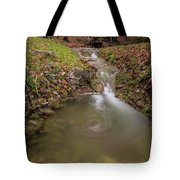 Long Exposure Picture Of Waterfall Tote Bag