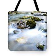 Long Exposure River Shkumbin  Tote Bag