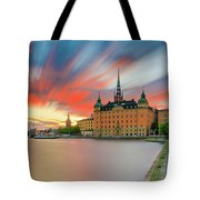 Long Exposure Stockholm Sunset Tote Bag