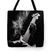 Long Hair Man Playing Guitar Tote Bag