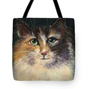 Long Haired Cat Tote Bag
