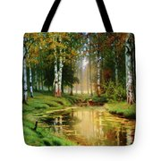 Long Indian Summer In The Woods Tote Bag