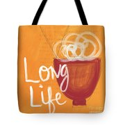 Long Life Noodle Bowl Tote Bag by Linda Woods