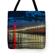 Long Lights At Grand Haven Pier Tote Bag