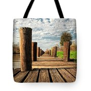Long Long Way To The Bayou - Louisiana Dock Tote Bag