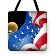 Long May She Wave The American Flag Tote Bag