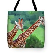 Long Necked Giraffes 2 Tote Bag