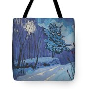 Long Reach Snow Day Tote Bag