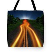 Long Road In Twilight Tote Bag