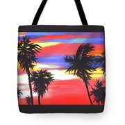 Long Skinny Sunset Tote Bag