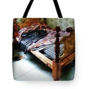 Long Sleeved Dress On Bed Tote Bag