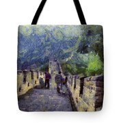Long Slope Of The Great Wall Of China Tote Bag