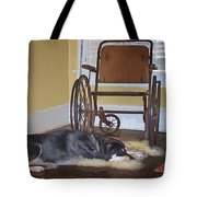 Long Wait - Dog - Wheelchair Tote Bag