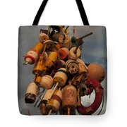 Long Wharf Buoys Tote Bag