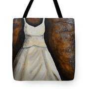 Long White Gown  Tote Bag
