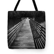 Long Wooden Bridge Tote Bag by Kelly Hazel