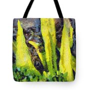 Long Yellow Leaves Tote Bag