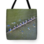 Longboat - Rowing On The Schuylkill River Tote Bag