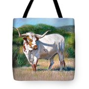 Longhorn Bull Tote Bag by Sue Halstenberg