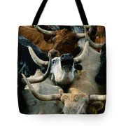 Longhorn Cattle Are Packed Tote Bag