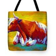 Longhorn Cow Tote Bag