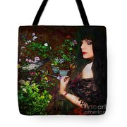 Longing For Springtime Gardens - Texture Tote Bag