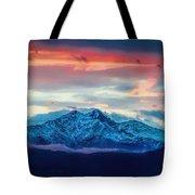 Longs Peak At Sunset Tote Bag