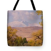 Longs Peak Diamond Autumn Shadow Tote Bag