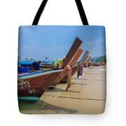 Longtails Await Tote Bag