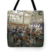 Looff Carousel Santa Cruz Boardwalk Tote Bag