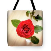 Look Down On A Rose Tote Bag