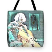 Look The Musician Plays Tote Bag