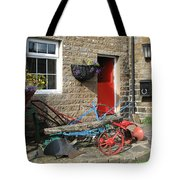 Looking At A Old Stone House Tote Bag by Joyce Woodhouse