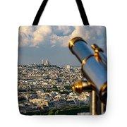 Looking At Sacre-coeur Tote Bag