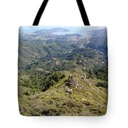 Looking Down From The Top Of Mount Tamalpais 2 Tote Bag